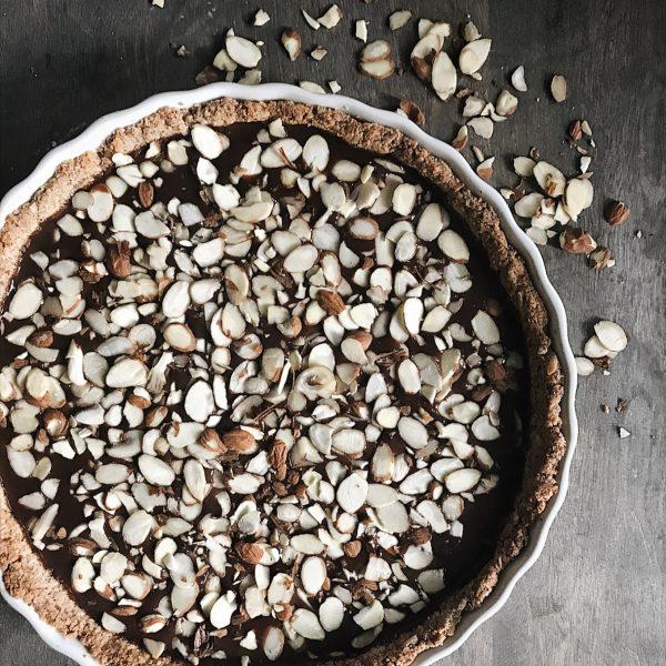 Almond Coconut Chocolate Tart Recipe